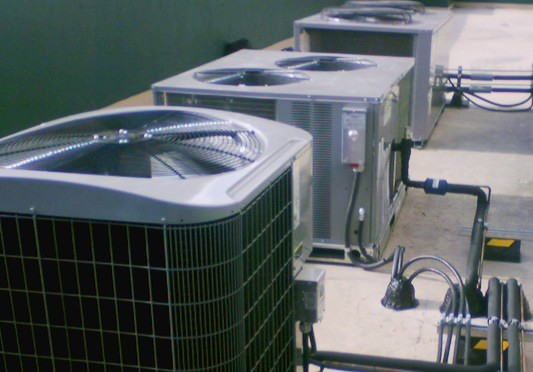 Picture of multiple AC systems.